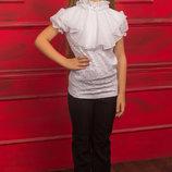 Красивая блуза из ажурной ткани для девочки 122-152р