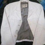Белая куртка натуральная кожа