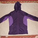 Отличная фиолетово-сиреневая флисовая велокуртка с капюшоном Crivit 46