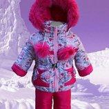 Зимний костюм комбинезон для девочки 1-7 лет. Опт, дропшиппинг, розница