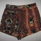 6/хс/34 стильные высокие короткие шортики под шелк