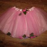 Creative education Пышная розовая юбка, р М на 4-6 лет, сделана на Шри-Ланке