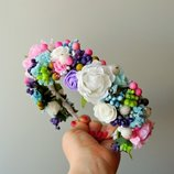 Ободок с цветами для волос