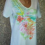 Легкая футболка с камешками 14 р