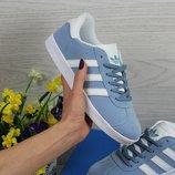 Кроссовки женские Adidas Gazelle light blue