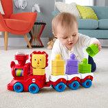 Развивающая игрушка Поезд с кубиками Fisher Price DRG33