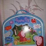 Большие двухсторонние пазлы Свинка Пеппа в сумочке