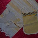 Комплект,набор EKER Турция -ЛЬНЯНОЕ Длинное Полотенце,рушник,cкатерть С Рукавичкой Для Бани,сауны