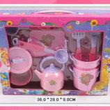 Набор детской посуды кукольный сервиз 668A посуда аксессуары