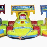 Каталка гоночная машинка спорткар 06-604 Kinder way Каталка гоночная машинка в сетке. Материал пл