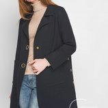 Женское вязаное пальто, шерсть, черный