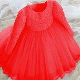 Нарядное платье р. 80-130 разные цвета