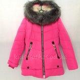 Куртка зимняя для девочек 9-13 лет 2215