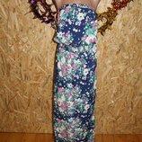 44 Eur. Макси платье - сарафан Next. Большой размер Длина платья по спинке - 145,5 см., пог максимал