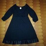 Вискозное платье , платье а- силуэт , красивое глубокое декольте, длина - 97 см