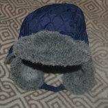 зимняя шапка мальчику Mothercare 1-3 года рост 92-98 см ог 48-50