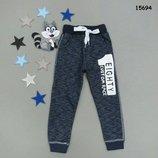 Тёплые штаны с начесом на мальчика, внизу на манжетах, Турция, рябушка, р.86-92-98-104-116-122-128