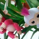 Интерактивная обезьянка Happy Monkey, fingerlings, хепи манки