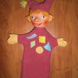 Кукла лялька перчатка для театра Кукла на руку кукольный театр перчатка перчаточная кукла Арлекин