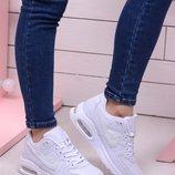 Женские кроссовки Nike Air Max черные и белые