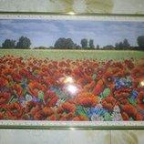 Картина бисером Маки , ручная работа