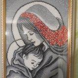 Картина бисером Мать и дитя , ручная работа