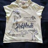 Легкая летняя футболка с интересным принтом.Фирма in Extenso.