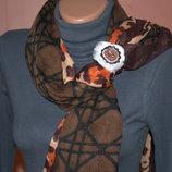 Эксклюзив Кольцо для шарфа,ручная работа,яшма мех