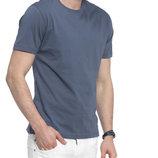 Синяя мужская футболка LC Waikiki с горловиной круглой