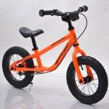 Детские беговелы велобеги BRN B-2 на 12, 14 и 16 д на надувных колесах