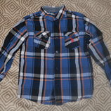 брендовая рубашка Us Polo на 6 лет рост 116 см хлопок Сша