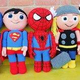 Хенд мейд вязаная игрушка супермен