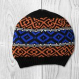 Мужская вязаная шапочка с орнаментом р.58/60 Takko Fashion Германия