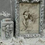 Декоративные рамочки для фото с ангелочками.