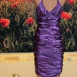 Платье фиолетовое атласное р. 42-44 Vivir