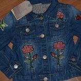 Джинсовая курточка для девочек от 3 до 8 лет