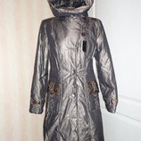 Зимнее пальто зимний пуховик золотистый на холофайбере р.10, р.12 ог 92, ог 98