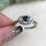 Кольцо серебряное Монро