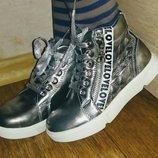 Весенние серебристые демисезонные ботинки Y-top
