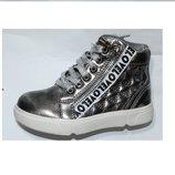 Распродажа- серебристые демисезонные ботинки Y-top