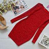 Хит Повседневное классическое мини платье-футляр трикотажное Ангора меланж разные цвета р40 по р46