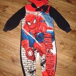 Классная флисовая пижама на 3-4 года со Спайдерменом в идеале