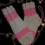 Зимние теплые носки вязаные,качество