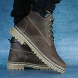 Ботинки Clarks Crayzy, зимние, кожа на меху р. 40-45, код gavk-10583