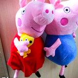 Мягкая игрушка Свинка Пеппа и Джордж, 1528, 30 см