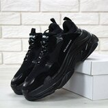 Мужские кроссовки Balenciaga Triple S Black Black