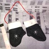 Декор новогодня игрушка на елку варежки рукавички подходят одежда кукле новый год