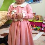 Платье на девочку с длинным рукавом