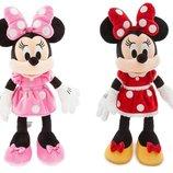Minnie Mouse Plush Disney Минни Дисней оригинал мягкая игрушка розовая и красная