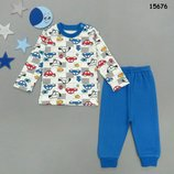 Пижама,Турция, Реглан и штаны на мальчика, интерлок, р.62-68-74-80-86